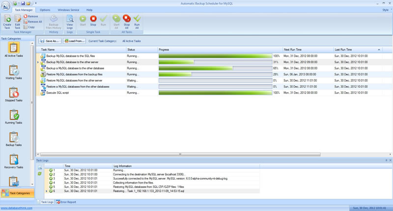 Automatic Backup Scheduler for MySQL Screen shot