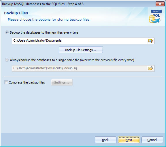 Automatically download MySQL databases from remote server